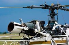 Motor e rotor do helicóptero Imagem de Stock Royalty Free