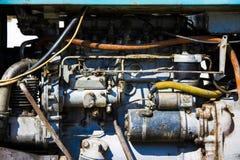 Motor eines alten Traktors Lizenzfreie Stockbilder