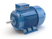 Motor elétrico azul, ilustração 3D imagem de stock royalty free