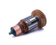 Motor elétrico do interior das bobinas do cobre imagens de stock