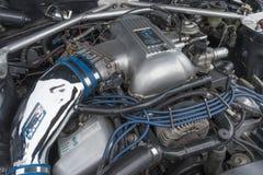 Motor el an o 80 de Toyota Celica en la exhibición Fotografía de archivo