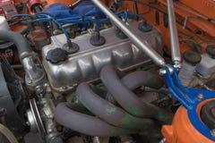 Motor el an o 80 de Toyota Corolla en la exhibición Imagenes de archivo