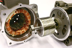 Motor eléctrico abierto de la CA. Imagen de archivo libre de regalías