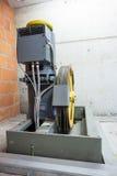 Motor of the elevator Stock Image