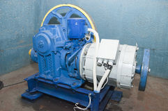 Motor Elevator. The motor of the Elevator in a special technical room Royalty Free Stock Images