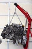 Motor en la tienda para la reconstrucción Foto de archivo