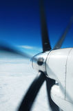 Motor en propeller stock foto's