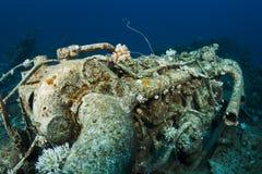 Motor en un naufragio Imágenes de archivo libres de regalías
