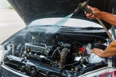 Motor för bil för högtryckvattenlokalvård Arkivbilder