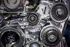 Motor för bilmotormaskin Arkivbild