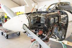 motor för cessna 152 Royaltyfri Fotografi