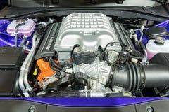 Motor för Dodge uppladdare SRT Arkivfoton
