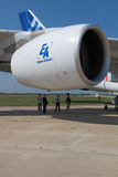 motor för flygbuss a380 Royaltyfri Bild