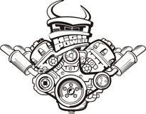 motor för hög makt Fotografering för Bildbyråer