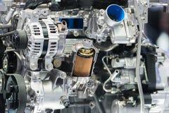 Motor för maskin för insida för skärm för tvärsnitt för olje- filter för motor in Fotografering för Bildbyråer