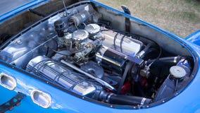 Motor för springa bil för 1951 J2 Allard klassisk Royaltyfria Foton