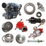 Motor and few automotive parts Royalty Free Stock Images