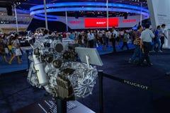 Motor från Peugeot, 2014 CDMS Arkivbilder