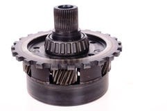 Motor gear. Automotive transmission gears, bearing and belt Stock Image