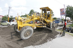 Motor grader Royalty Free Stock Photo