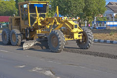 Motor grader is working Royalty Free Stock Images