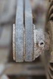 Motor, Gurt, Rost, abgedroschen, Schwarzes Stockbild