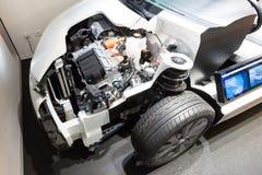 Motor híbrido cortado Foto de archivo libre de regalías