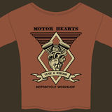 Motor Hearts Motorcycle Workshop Royalty Free Stock Photos