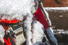 Motor helado cerca del Vaticano Imágenes de archivo libres de regalías