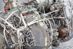 Motor of helicopter on exhibition Royalty Free Stock Image
