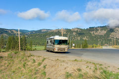 A motor-home on the alaska highway Royalty Free Stock Photo
