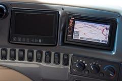 Motor Home Dash Board with GPS Stock Photos