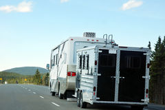 Motor home on the road Royalty Free Stock Photography