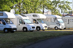 Motor homes Stock Photography