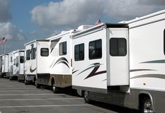 Motor Homes For Sale Royalty Free Stock Photos