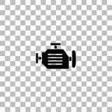 Motor icon flat royalty free illustration