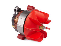 Motor with the impeller Royalty Free Stock Photo