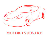 Motor Industry Shows Passenger Car And Auto Stock Photography
