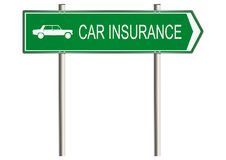 Motor insurance sign Royalty Free Stock Photo