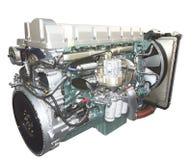 motor isolerad lastbilwhite Fotografering för Bildbyråer