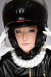 Motor-lady Stock Photo