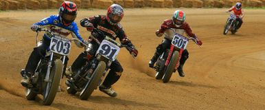 motor lasów motocyklistów wyścig road Zdjęcie Royalty Free