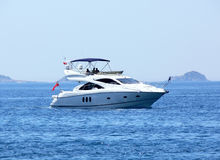 Motor-launch. On the Mediterranean Sea Royalty Free Stock Photo