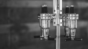 Motor mecânico de gerencio manual do parafuso imagens de stock