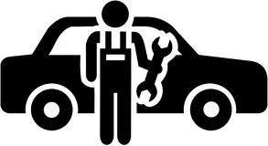 Motor mechanic icon. Occupation vector stock illustration