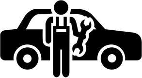Motor mechanisch pictogram stock illustratie