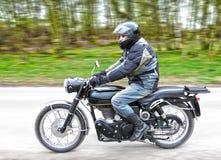Motor met ruiter royalty-vrije stock foto