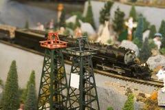 Motor miniatura del tren Imágenes de archivo libres de regalías