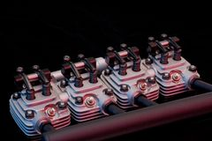 Motor mit vier Anschlägen Lizenzfreies Stockfoto