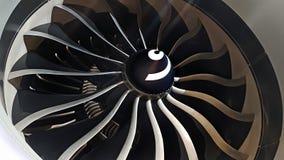Motor moderno del aeroplano fotografía de archivo libre de regalías